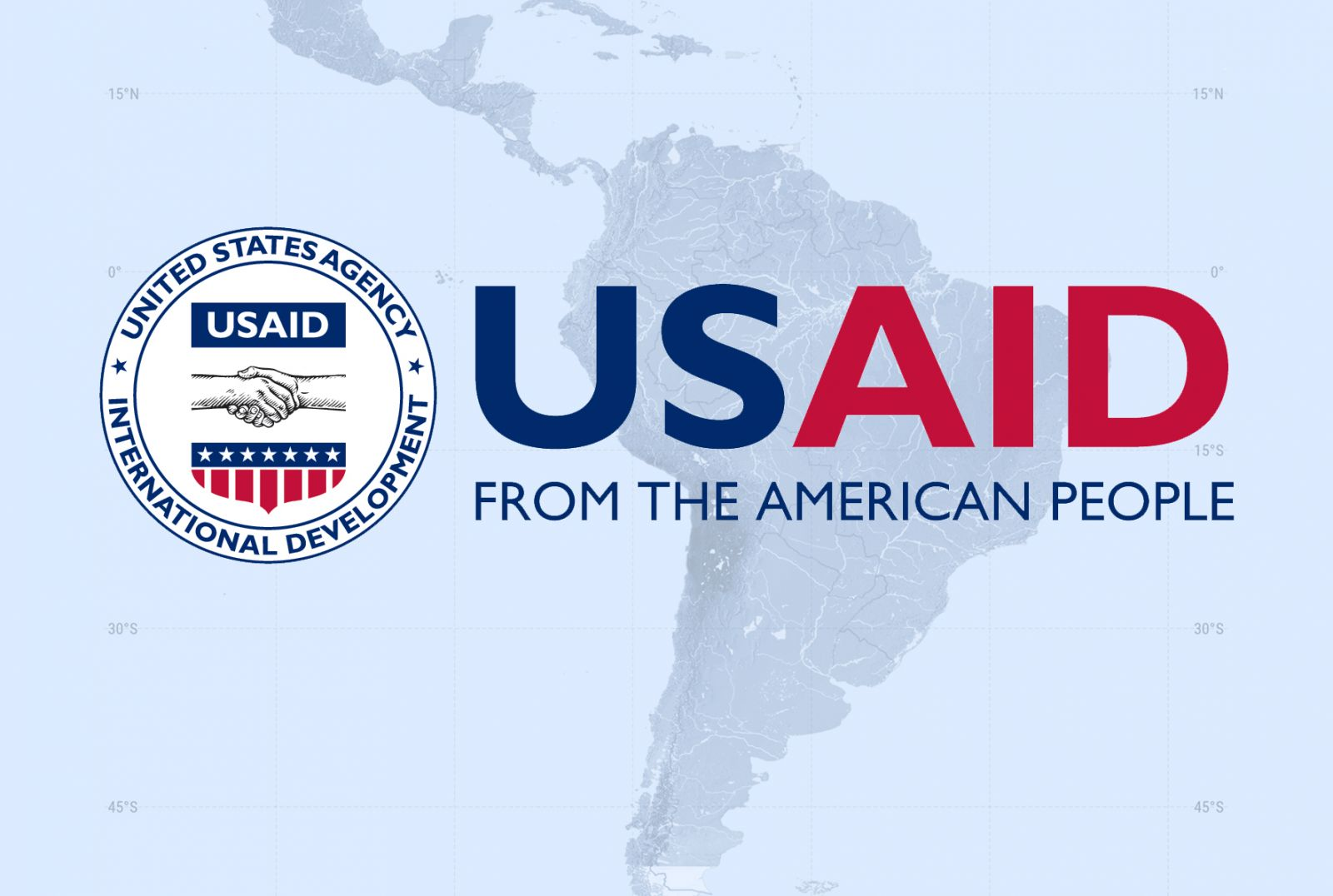 USAID Logo on map